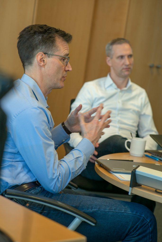 Vice President Scott Stegert (links) und Sten-Olaf Wilkening, Director Innovation & Communication.
